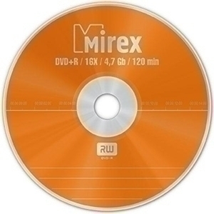 Диск DVD+R Mirex 4.7 Gb, 16x