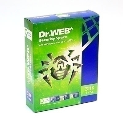Антивирус Dr. Web Security Space 1 год - на 3 ПК